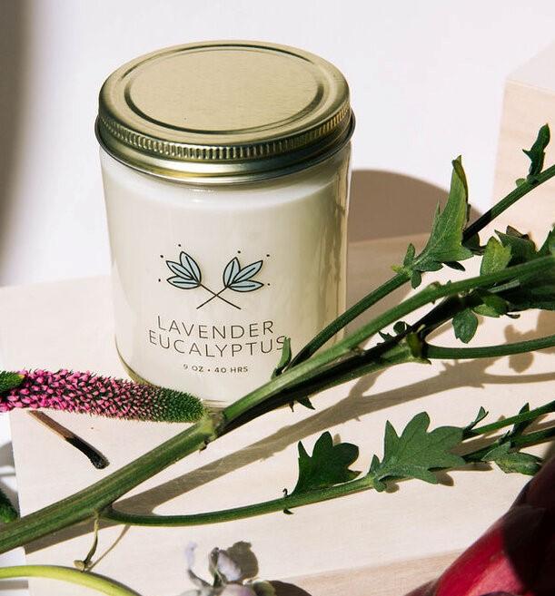 8oz Lavender Eucalyptus Soy Candle